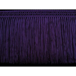 FINE CROCHET FRINGE 22CM PURPLE