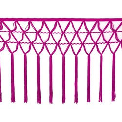 KNOTTED CROCHET FRINGE 30CM FUCHSIA PINK