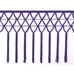 KNOTTED CROCHET FRINGE 30CM PURPLE RAIN
