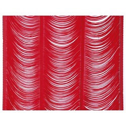 PANELLED FRINGE 45CM RED