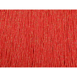 STRETCH IRIDESCENT FRINGE 30CM FLUO RED