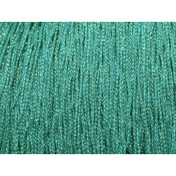 STRETCH IRIDESCENT FRINGE 30CM JADE