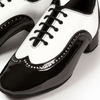 BROGUE - WHITE PATENT/BLACK PATENT