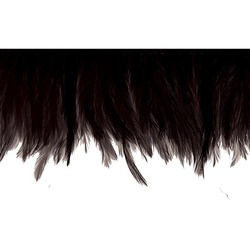 HACKLE FEATHER FRINGE BLACK