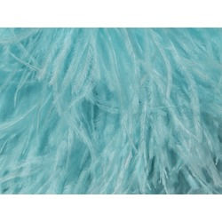 OSTRICH FEATHER FRINGE AQUA