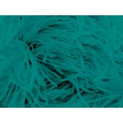 OSTRICH FEATHER FRINGE BLUE ZIRCON