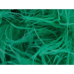OSTRICH FEATHER FRINGE COOL AQUA