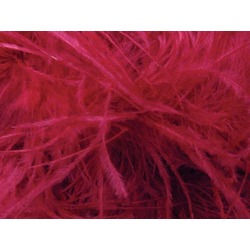 OSTRICH FEATHER FRINGE CHERRY RED