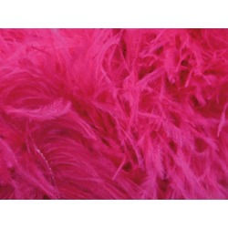 OSTRICH FEATHER FRINGE ELECTRIC PINK
