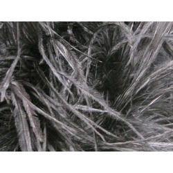 OSTRICH FEATHER FRINGE HEMATITE