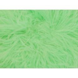 OSTRICH FEATHER FRINGE LIGHT MINT