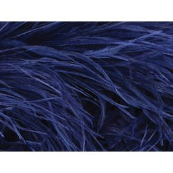 OSTRICH FEATHER FRINGE MIDNIGHT SKY