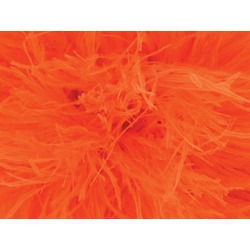 OSTRICH FEATHER FRINGE ORANGE