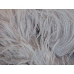 OSTRICH FEATHER FRINGE SILVER
