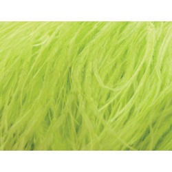 OSTRICH FEATHER FRINGE TROPIC LIME