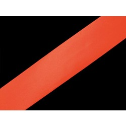 SATIN BIAS BINDING 19MM HOT ORANGE
