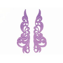 HERO GUIPURE MOTIF PAIR LILAC DREAM
