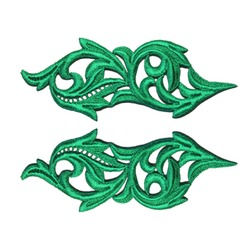 HEARTLEAF GUIPURE MOTIF EMERALD