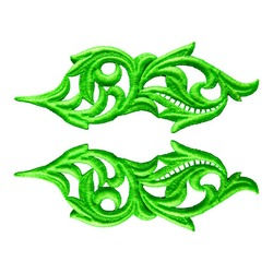 HEARTLEAF GUIPURE MOTIF FLUORESCENT GREEN