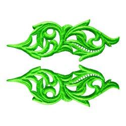 HEARTLEAF GUIPURE MOTIF FLUORESCENT GREEN