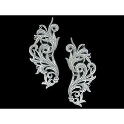 FREEDOM MOTIF PAIR ANTIQUE SILVER