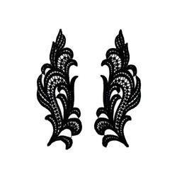 ANGELIC GUIPURE MOTIF PAIR BLACK