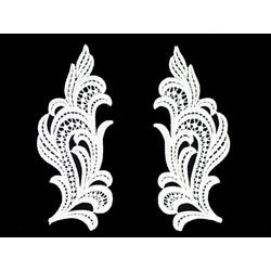 ANGELIC GUIPURE MOTIF PAIR WHITE