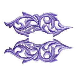 HEARTLEAF GUIPURE MOTIF ULTRA VIOLET
