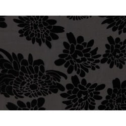 ORNATE FLOCK ON GEORGETTE BLK-BLK
