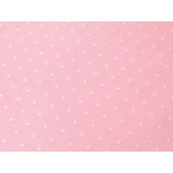 POLKA DOT FLOCK ON TULLE SUGAR PINK