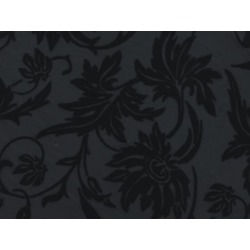 WILD FLOWER FLOCK ON STRETCH NET BLACK