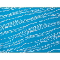 LINES FLOCK ON STRETCH NET TURQUOISE