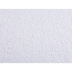 WINDSOR FLOCK ON STRETCH NET WHITE