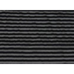 STRIPED FLOCK STR NET BLK ON BLK