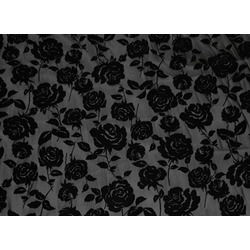 CC ROSE FLOCK BLACK ON BLACK