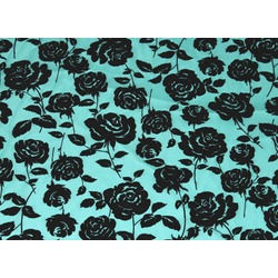 CC ROSE FLOCK BLACK ON HAWAII BLUE