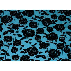 CC ROSE FLOCK BLACK ON TURQUOISE