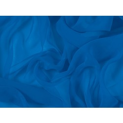 LUXURY GEORGETTE ELECTIC BLUE