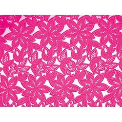 SIMONA GUIPURE LACE ELECTRIC PINK
