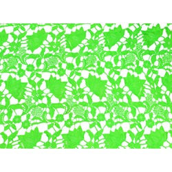 CLOVER ALLOVER LACE-FLUO GREEN