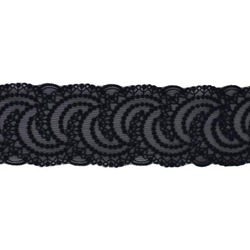 FERN STRETCH FLOCK BORDER BLACK