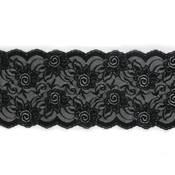 HIBISCUS STRETCH LACE BORDER BLACK