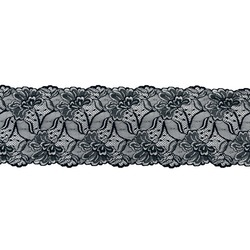 JESSICA STRETCH LACE BORDER BLACK SILVER