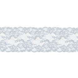 ROMANTIC STRETCH LACE BORDER WHITE