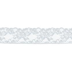 ROMANTIC NARROW STRETCH LACE BORDER WHITE