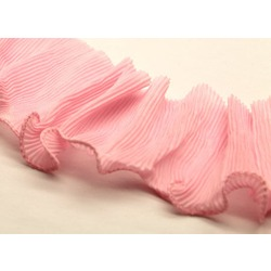 PLEATED TRIM - ROSE PINK