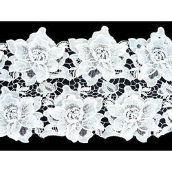 ROSE CROCHET RIBBON WHITE