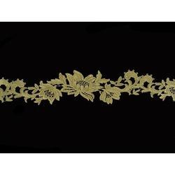 TROPICAL FLOWER RIBBON VINTAGE GOLD