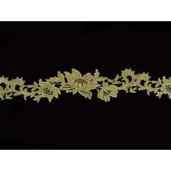 TROPICAL FLOWER RIBBON VINTAGE GOLD
