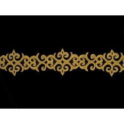 TRIBAL METALLIC RIBBON GOLD